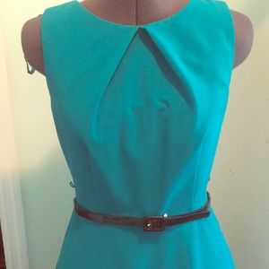 A line dress in beautiful teal green/blue!